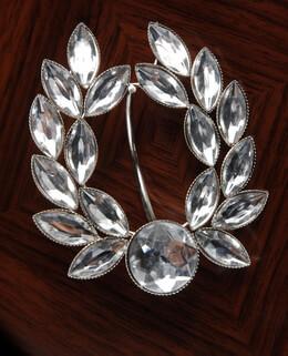 Laurel Wreath Crystal Napkin Rings