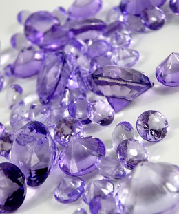 Lavender Acrylic Vase Gems Diamonds