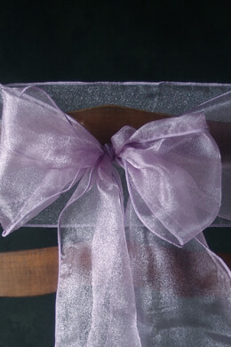 10 Organza Chair Sashes Lavender
