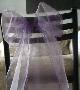 Organza Chair Sashes Lavender (Pack of 10)