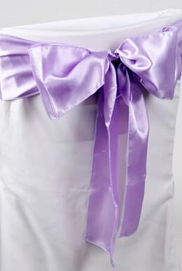 10 Satin Chair Sashes Lavender 6x106