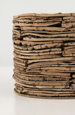 "Layered Birch Bark Pot 6"" x 4"""