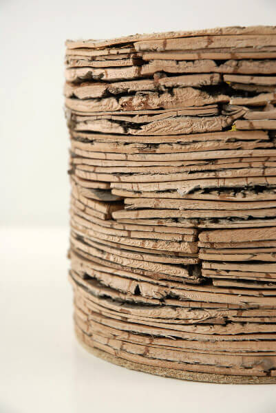 Layered Birch Bark Pot 7in