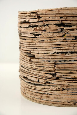 Birch Bark Pot Layered 7in