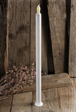 "Battery Operated 17"" Taper Candle  (touch function)"