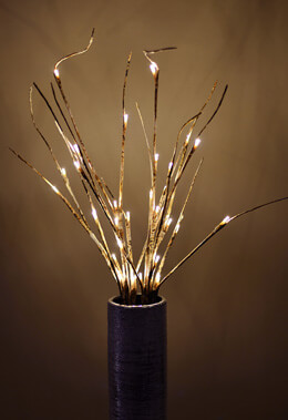 "2 LED Birch Branches 30 Lights - 39"", Battery Operated, Timer"