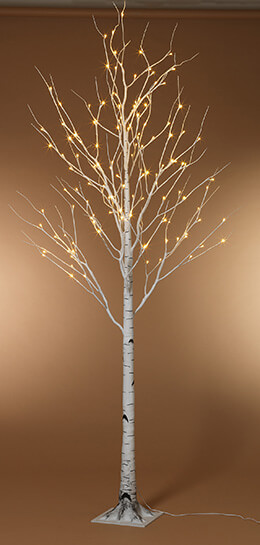 8 Foot LED Lighted Birch Tree Warm White SHIPS FREE