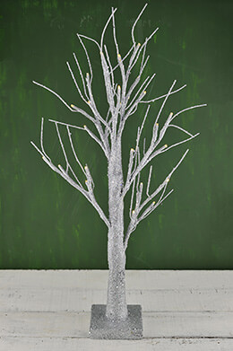 LED Christmas Tree Silver 24in
