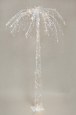 Tall Lighted Palm Tree, LED, 6 FT, 130 CT  Crystal Accents