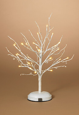 LED Tree White Crystal 2ft