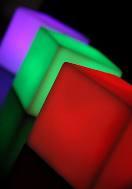 LED Cube 2.5in Color Changing