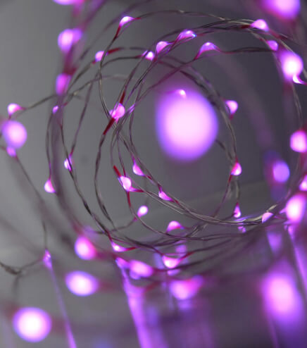 Fantasia Fairy Lights 20 Pink LED Battery Operated 3ft - 20ct