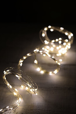 LED Fairy Lights Warm White 120ct - 6ft