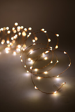 LED Fairy Lights Copper Warm White 20ft - 120ct