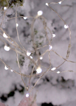 Fantasia Fairy Lights 4 Feet Battery Op Silver Wire 20ct