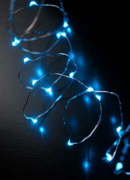 LED Fairy String Lights Battery Operated | Blue