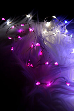 Fantasia Fairy Lights Pink, Battery Operated 16.5ft