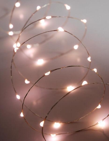 LED Fairy String Lights 60ct Warm White 10ft