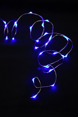 LED Firefly Lights Blue 6.5ft - 30ct Battery Operated
