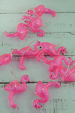LED Flamingo String Lights 65in
