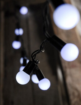 LED Globe String Lights|Cool White