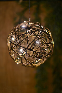 "8"" Grapevine Ball Battery Operated LED Lights"