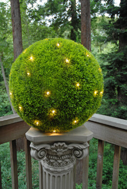 Grass Ball with 50 White LEDs 20in