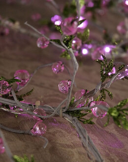 LED Lighted Crystal Garland Vine