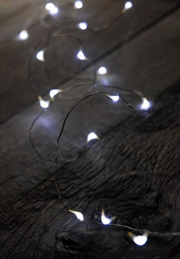 LED Micro Light String Battery Operated 11ft - 24ct