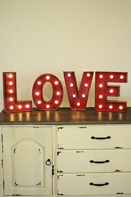 LED LOVE Marquee Sign 10in