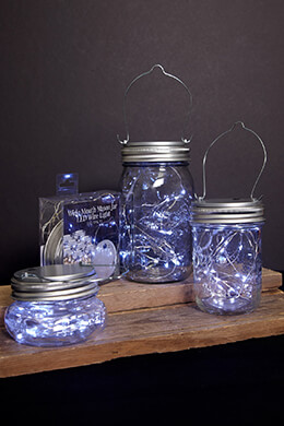 LED Mason Jar Lights Cool White (Wide Mouth)