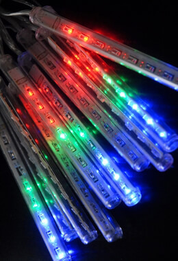 Rain Lights Multicolored LED Battery Operated