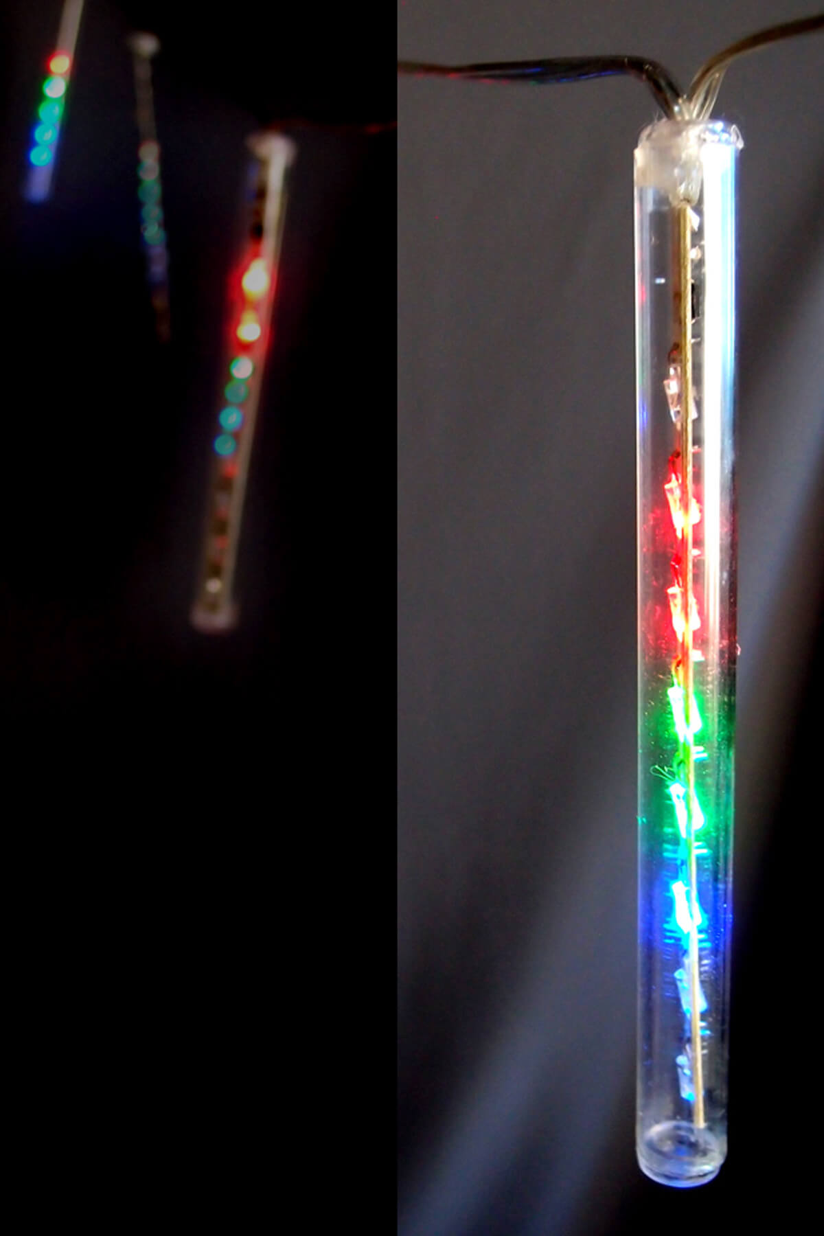 Battery Operated LED Meteor Snowfall Light Tubes  RGB