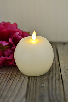 LED Motion Flame Candle Round 3.75in