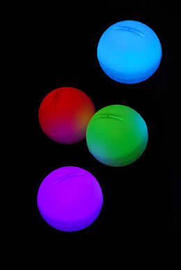 "4 LED Color Changing Enchanted Mood Lights Orbs 2"" , Battery Operated, Float"