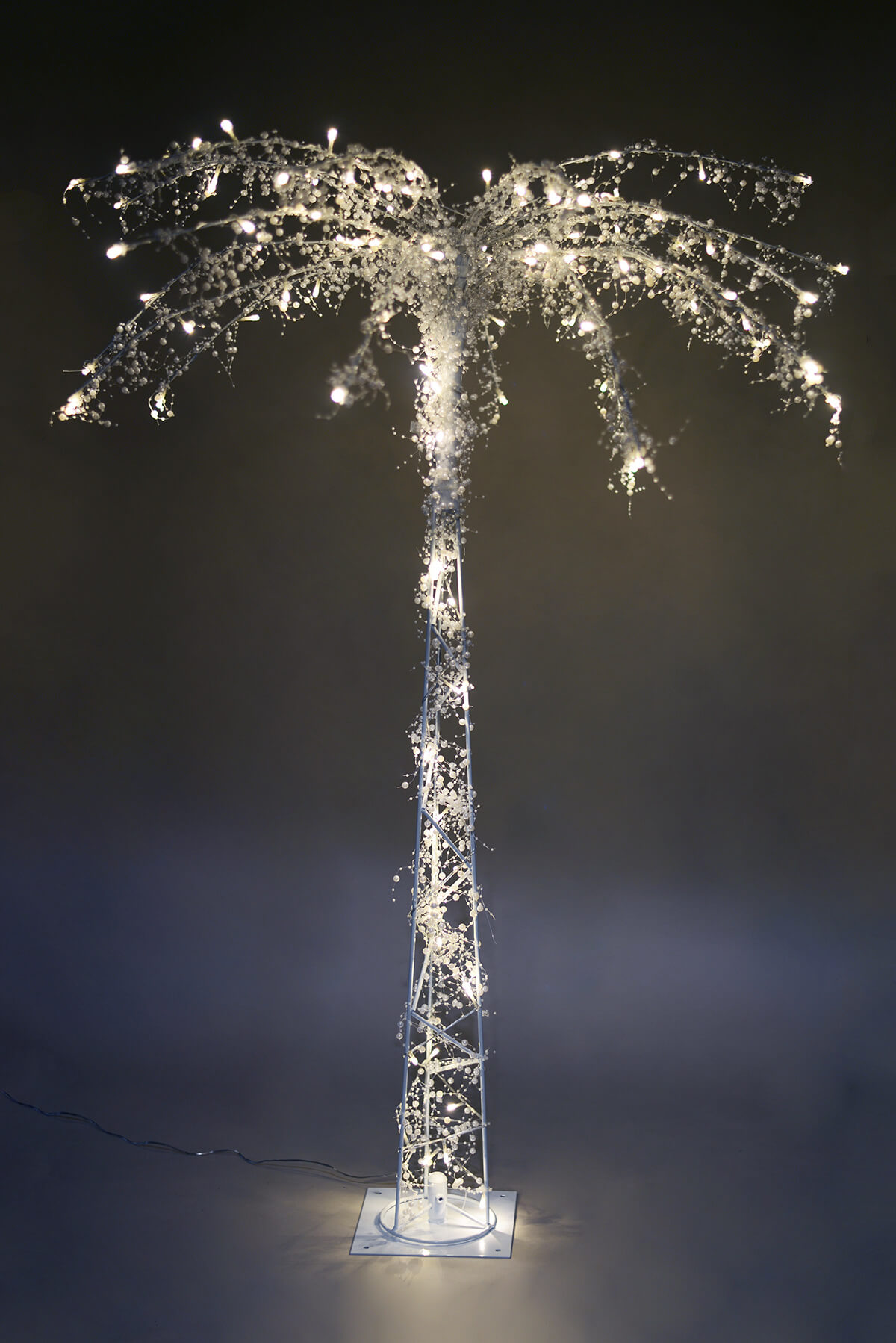 LED Lighted Palm Tree 4 Feet, 100 Warm White Lights