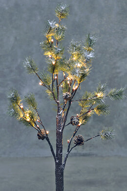 Pre-lit 3 Foot LED Pine Tree