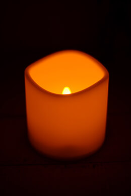 LED Resin Candle 4x4in