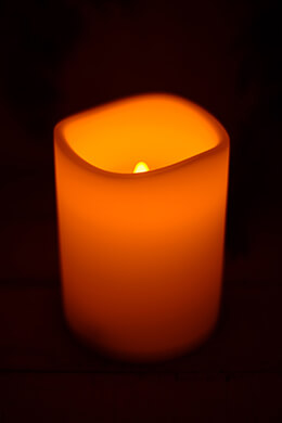 LED Resin Candle 4.5x6in