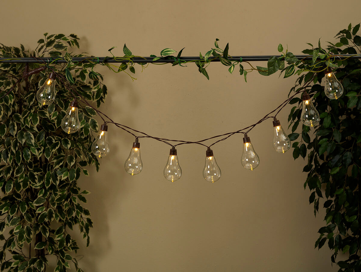 led solar string lights warm white 10