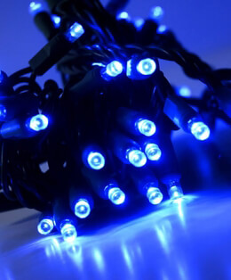 LED String Lights 70 Blue 23ft Green Cord
