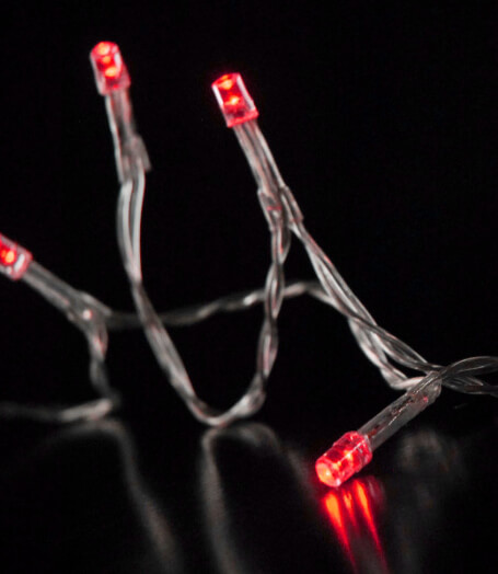 LED String Lights Battery Operated in Red