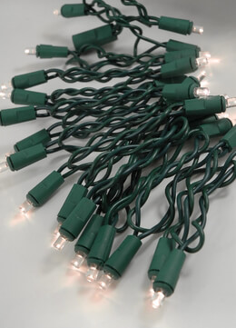 LED String Lights Green Wire 8.5 Ft | Warm White