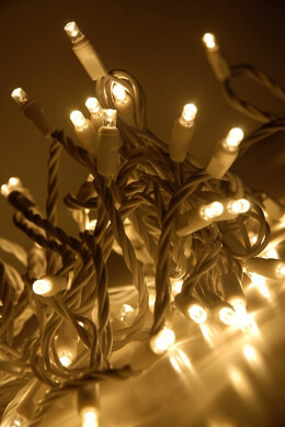 LED String Lights 70ct White Wire - Warm White 23ft