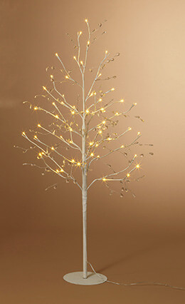 LED Tree White Crystal 4ft