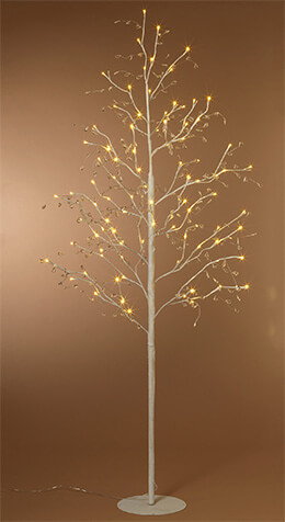LED Tree White Crystal 6ft