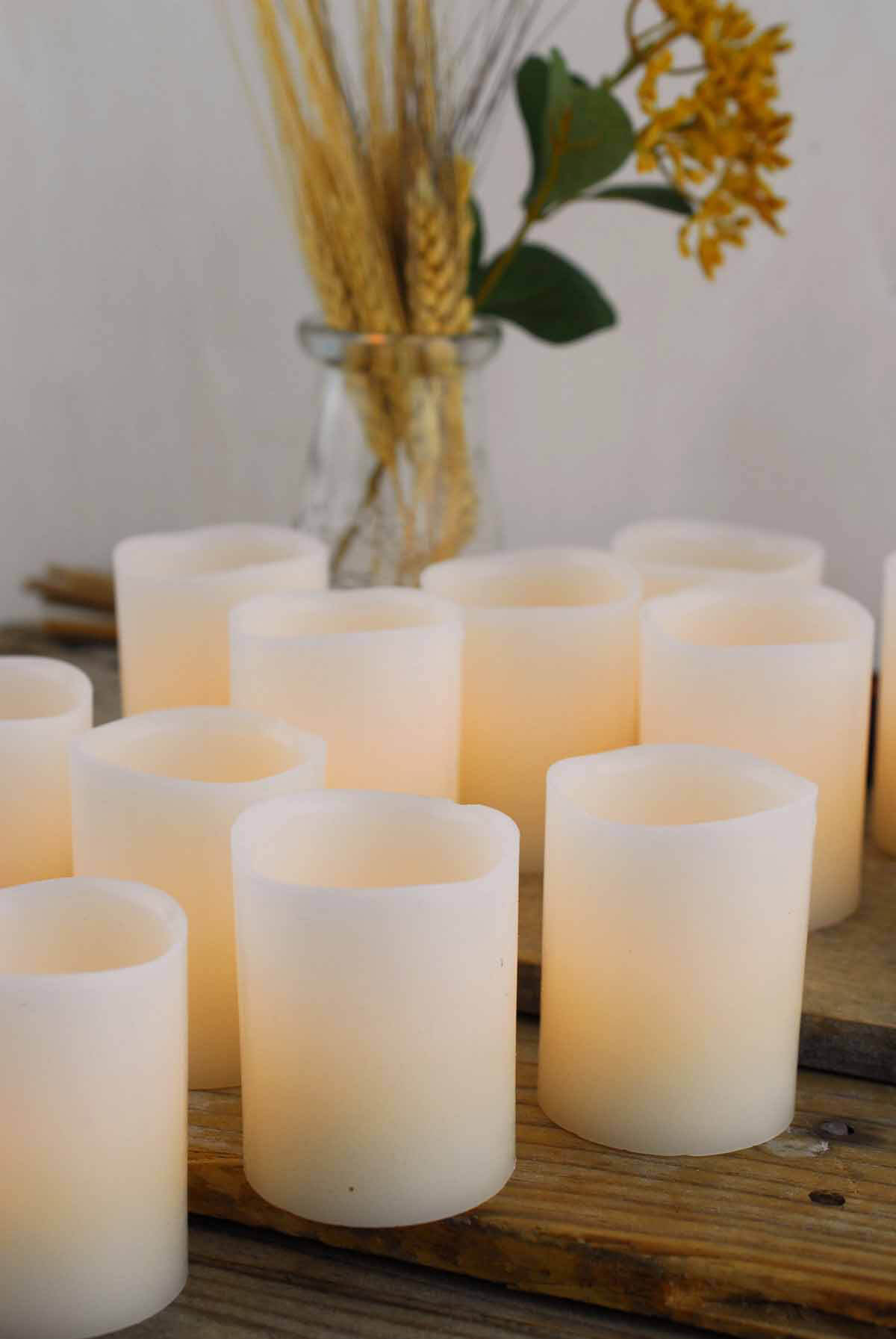 Led Wax Votive Candle 2x2.5in