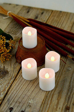 LED Votive Candle White (Set of 4)