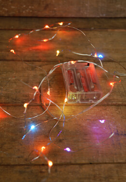 RGB Battery Operated LED Waterproof Fairy Lights 7.5ft
