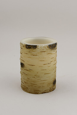 Birch Battery Operated Pillar Candle 4""